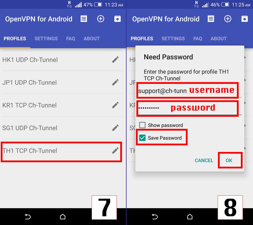 Setup android openvpn step4